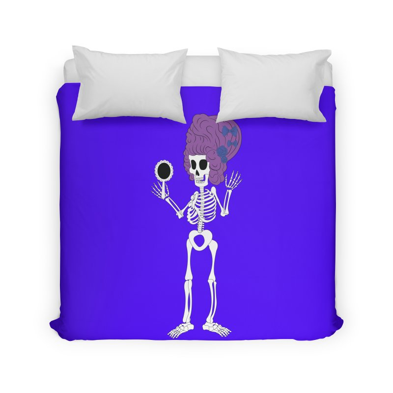 Skully in a Wig Home Duvet by Rebecca's Artist Shop