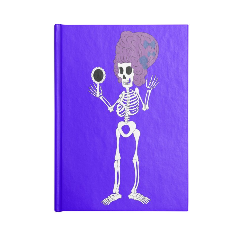 Skully in a Wig Accessories Notebook by Rebecca's Artist Shop