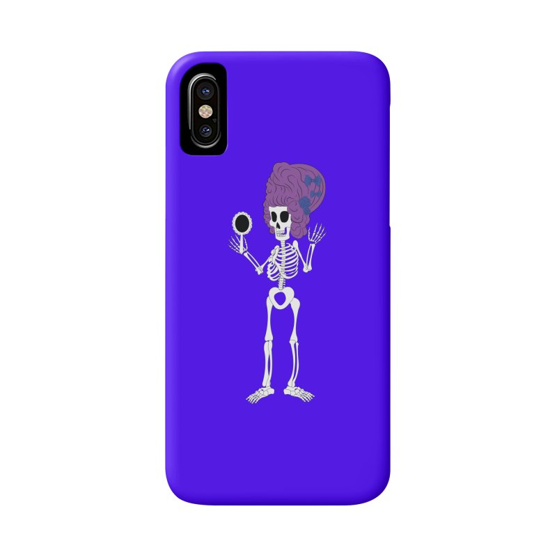 Skully in a Wig Accessories Phone Case by Rebecca's Artist Shop