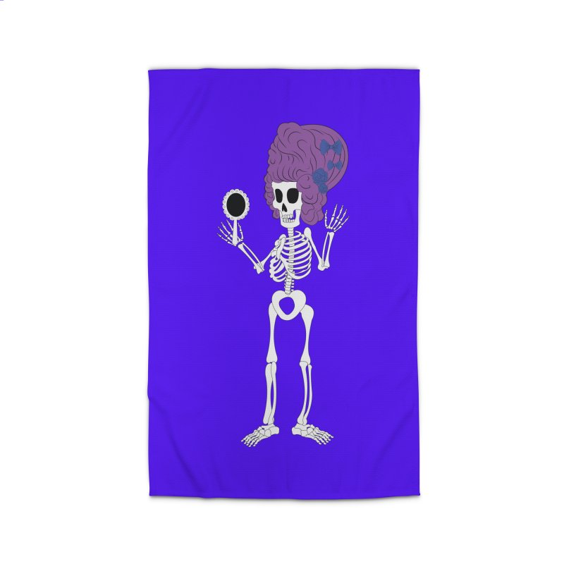 Skully in a Wig Home Rug by Rebecca's Artist Shop