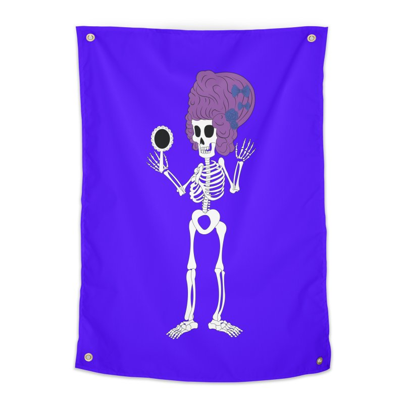 Skully in a Wig Home Tapestry by Rebecca's Artist Shop