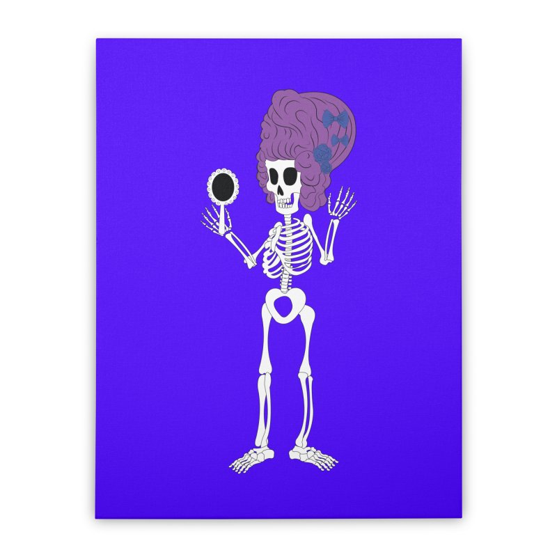 Skully in a Wig   by Rebecca's Artist Shop