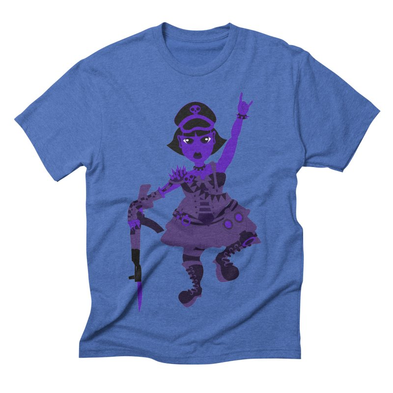 Post Apocalyptic Girl Men's Triblend T-shirt by Rebecca's Artist Shop