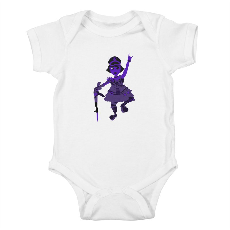 Post Apocalyptic Girl Kids Baby Bodysuit by Rebecca's Artist Shop