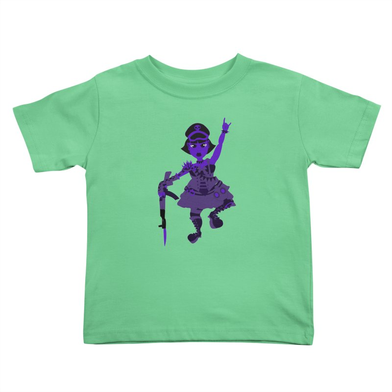 Post Apocalyptic Girl Kids Toddler T-Shirt by Rebecca's Artist Shop