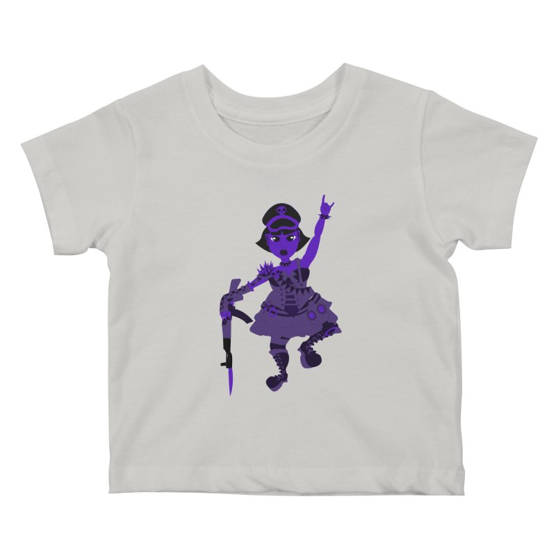 Post Apocalyptic Girl Kids Baby T-Shirt by Rebecca's Artist Shop
