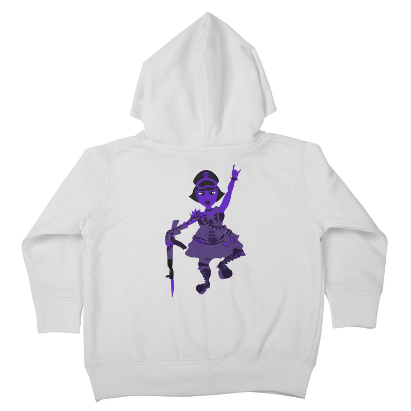 Post Apocalyptic Girl Kids Toddler Zip-Up Hoody by Rebecca's Artist Shop