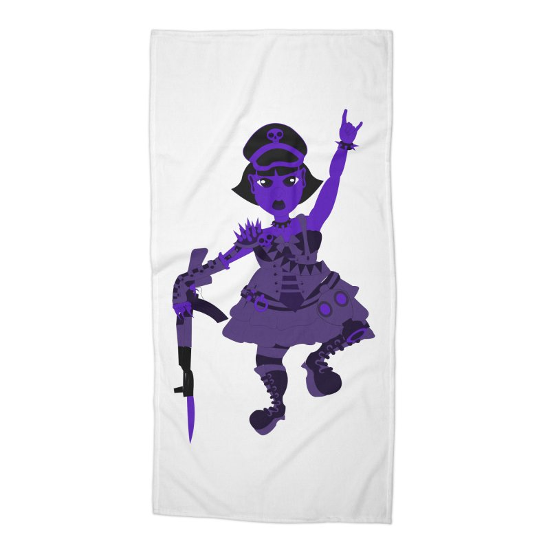 Post Apocalyptic Girl Accessories Beach Towel by Rebecca's Artist Shop