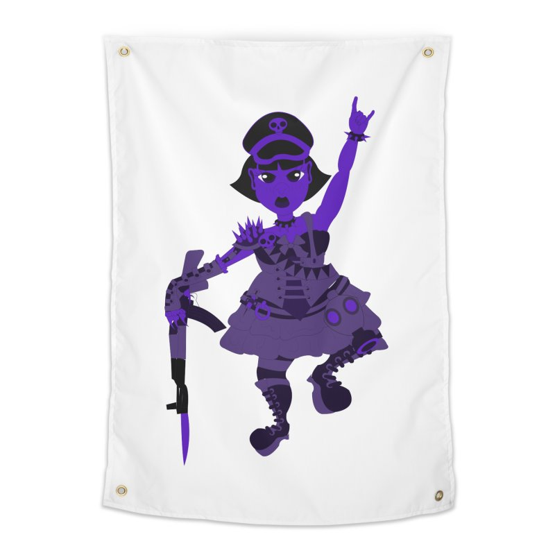 Post Apocalyptic Girl Home Tapestry by Rebecca's Artist Shop