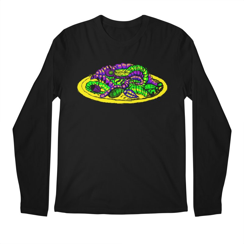 Mimi's Monsters-Plate O' Bugs Men's Longsleeve T-Shirt by Rebecca's Artist Shop