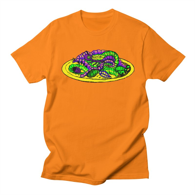 Mimi's Monsters-Plate O' Bugs Men's T-Shirt by Rebecca's Artist Shop