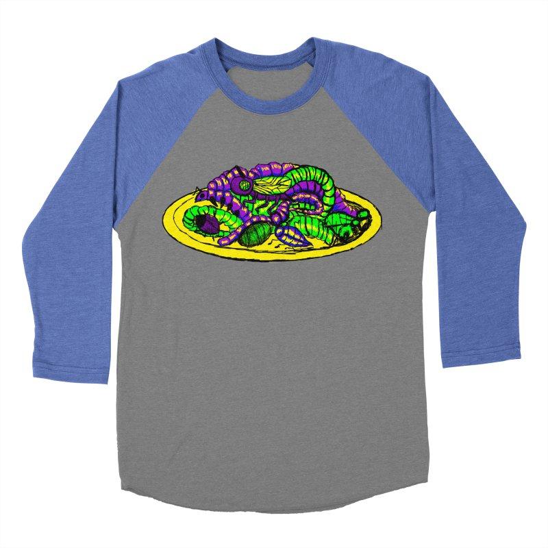 Mimi's Monsters-Plate O' Bugs Women's Baseball Triblend T-Shirt by Rebecca's Artist Shop