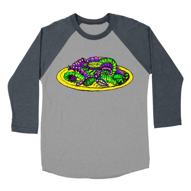 Mimi's Monsters-Plate O' Bugs Men's Baseball Triblend T-Shirt by Rebecca's Artist Shop