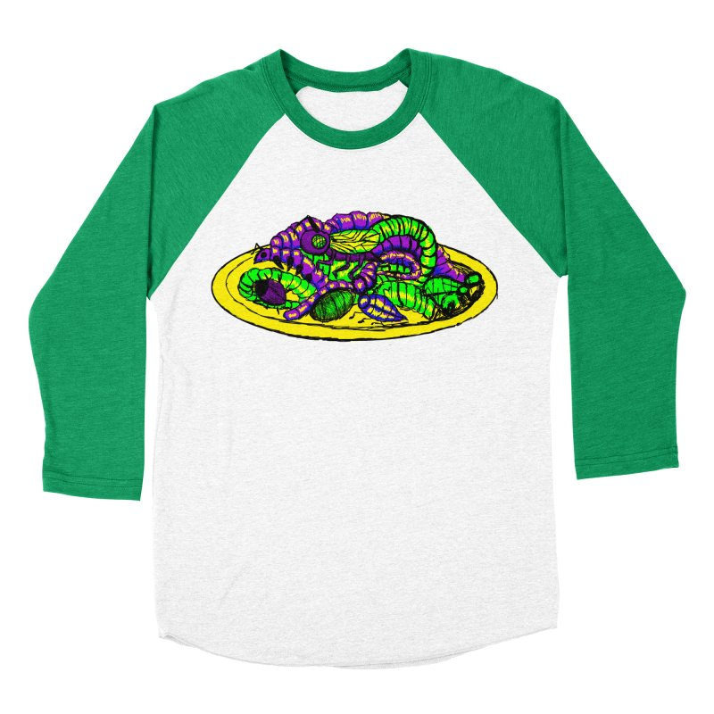 Mimi's Monsters-Plate O' Bugs Men's Baseball Triblend T-Shirt by Rebecca's Artist Shop