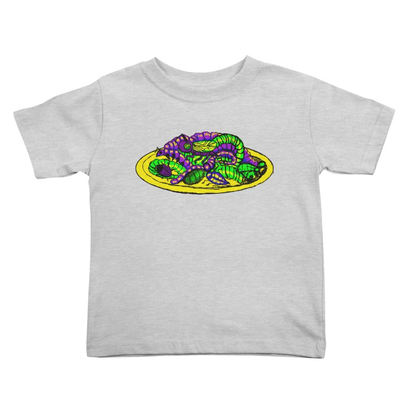 Mimi's Monsters-Plate O' Bugs Kids Toddler T-Shirt by Rebecca's Artist Shop