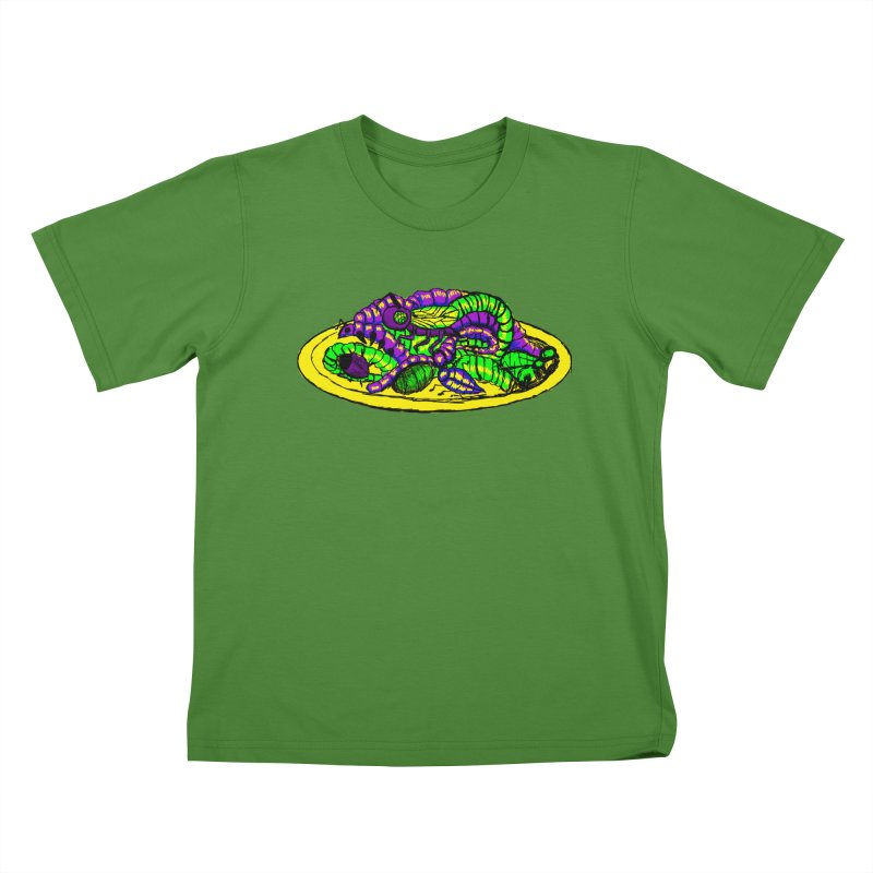 Mimi's Monsters-Plate O' Bugs Kids T-shirt by Rebecca's Artist Shop