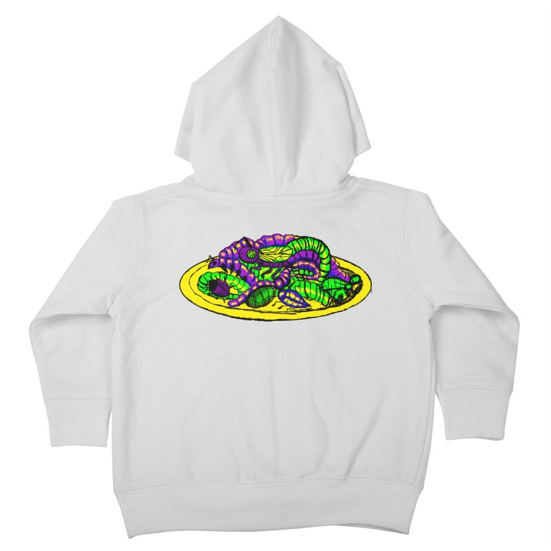 Mimi's Monsters-Plate O' Bugs Kids Toddler Zip-Up Hoody by Rebecca's Artist Shop