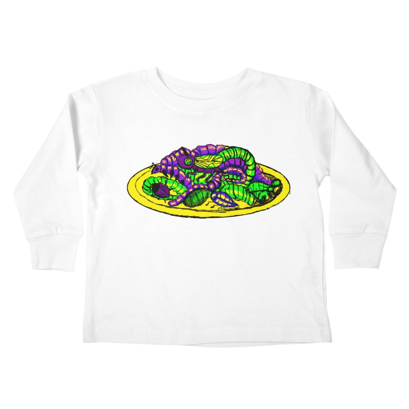 Mimi's Monsters-Plate O' Bugs Kids Toddler Longsleeve T-Shirt by Rebecca's Artist Shop