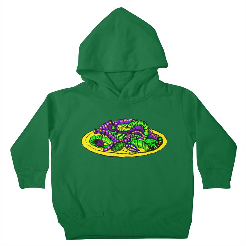 Mimi's Monsters-Plate O' Bugs Kids Toddler Pullover Hoody by Rebecca's Artist Shop