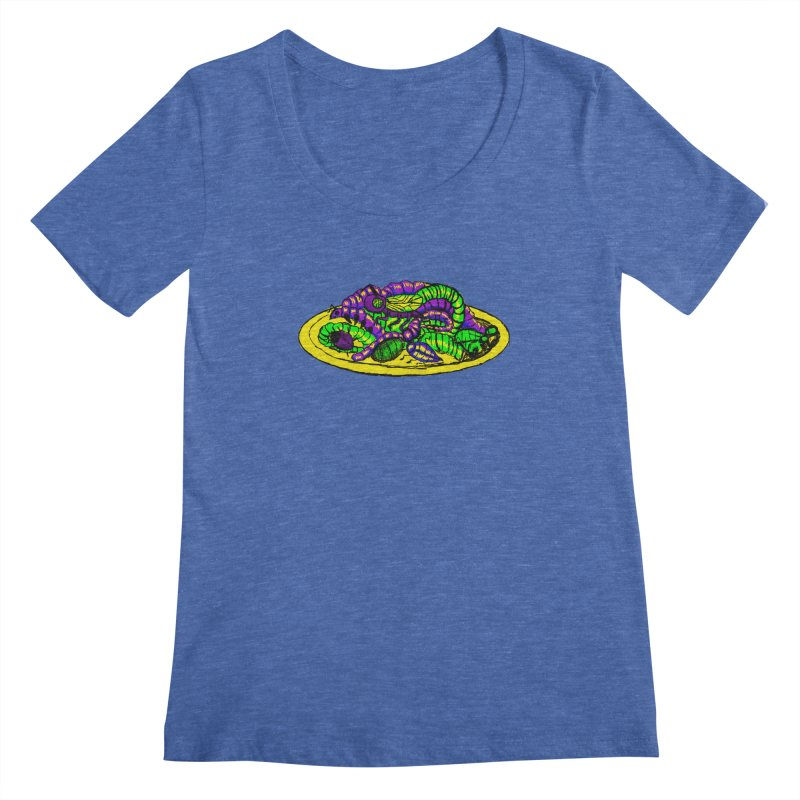 Mimi's Monsters-Plate O' Bugs Women's Scoopneck by Rebecca's Artist Shop