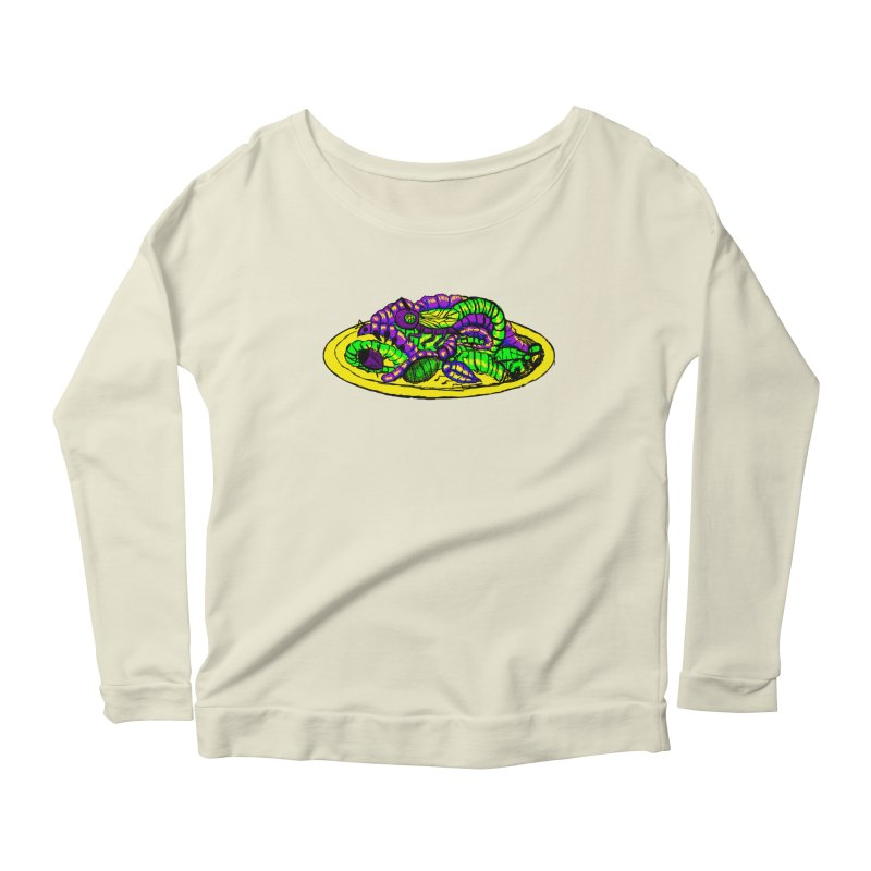 Mimi's Monsters-Plate O' Bugs Women's Longsleeve Scoopneck  by Rebecca's Artist Shop