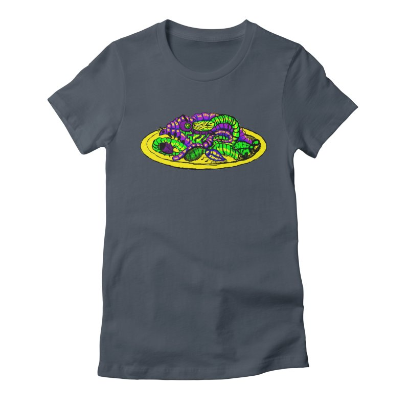Mimi's Monsters-Plate O' Bugs Women's Fitted T-Shirt by Rebecca's Artist Shop