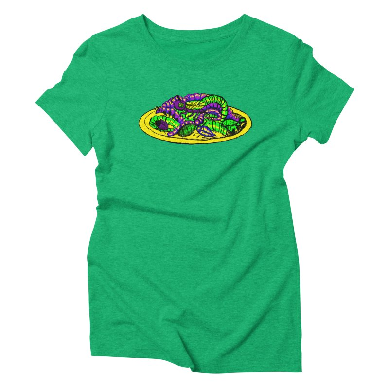 Mimi's Monsters-Plate O' Bugs Women's Triblend T-Shirt by Rebecca's Artist Shop