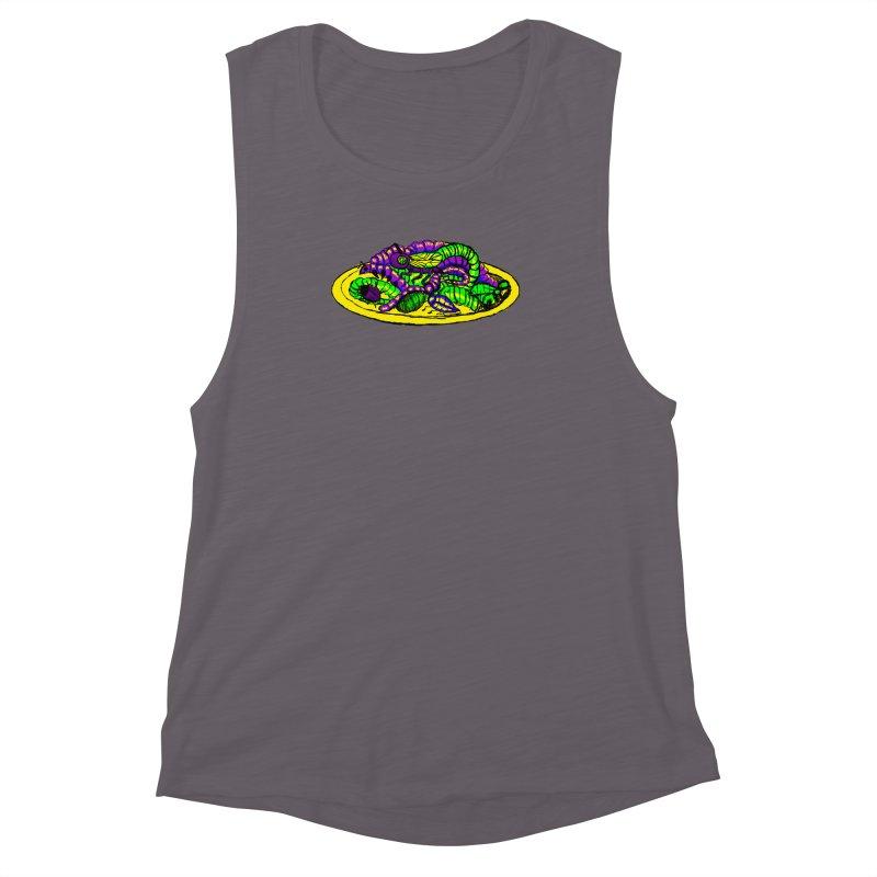 Mimi's Monsters-Plate O' Bugs Women's Muscle Tank by Rebecca's Artist Shop