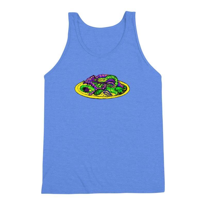 Mimi's Monsters-Plate O' Bugs Men's Triblend Tank by Rebecca's Artist Shop
