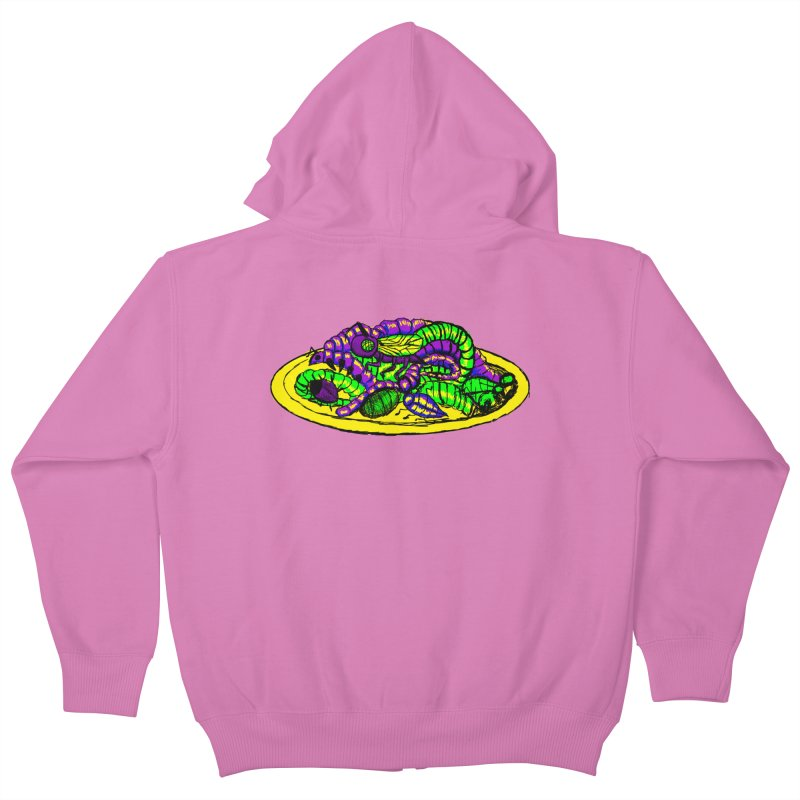 Mimi's Monsters-Plate O' Bugs Kids Zip-Up Hoody by Rebecca's Artist Shop