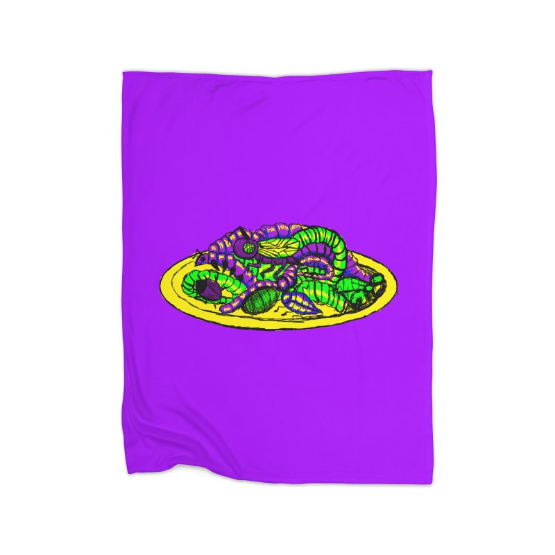 Mimi's Monsters-Plate O' Bugs Home Blanket by Rebecca's Artist Shop