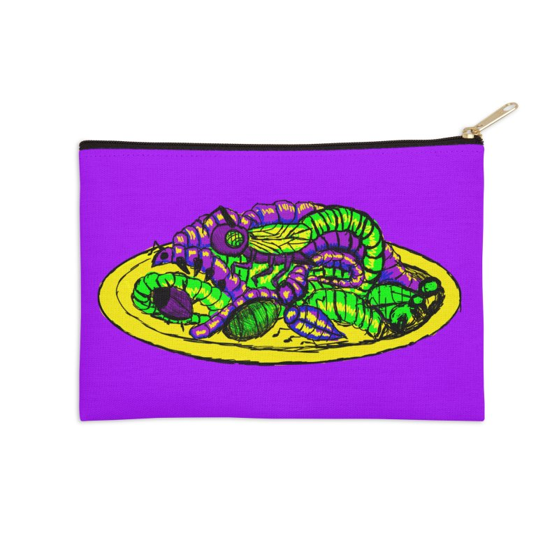 Mimi's Monsters-Plate O' Bugs Accessories Zip Pouch by Rebecca's Artist Shop