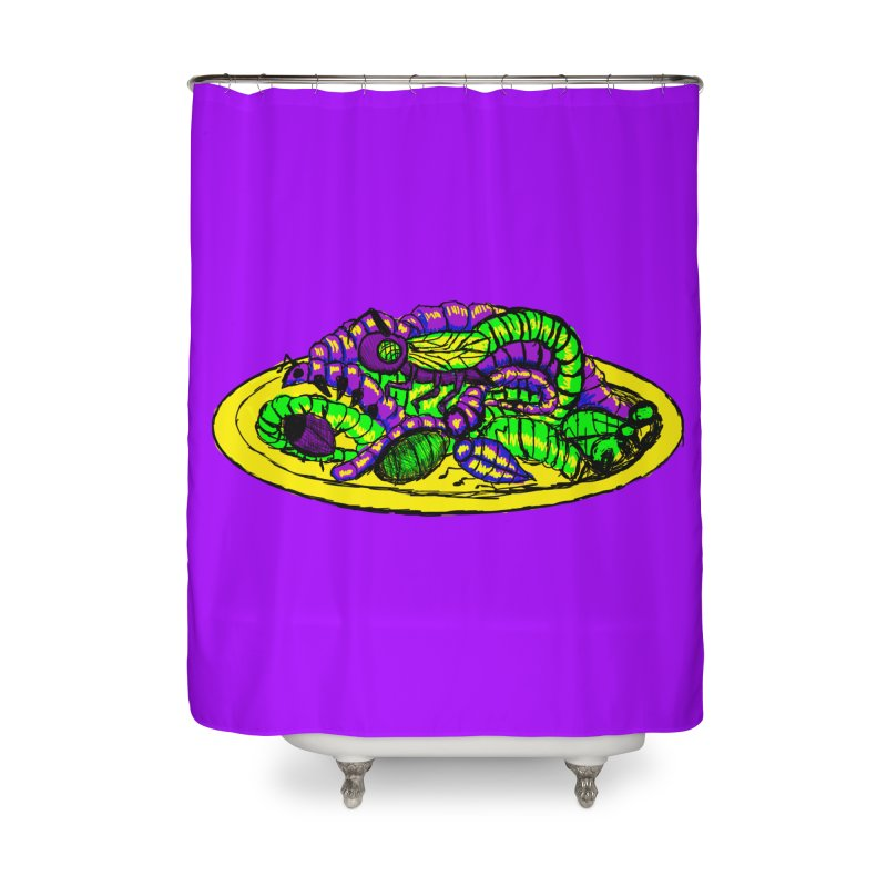 Mimi's Monsters-Plate O' Bugs Home Shower Curtain by Rebecca's Artist Shop