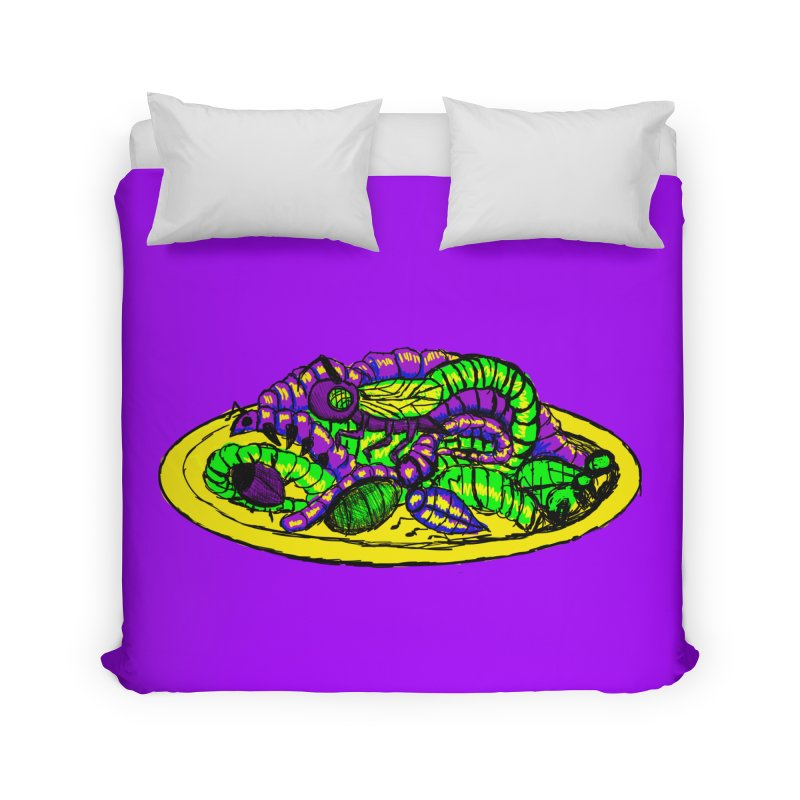 Mimi's Monsters-Plate O' Bugs Home Duvet by Rebecca's Artist Shop