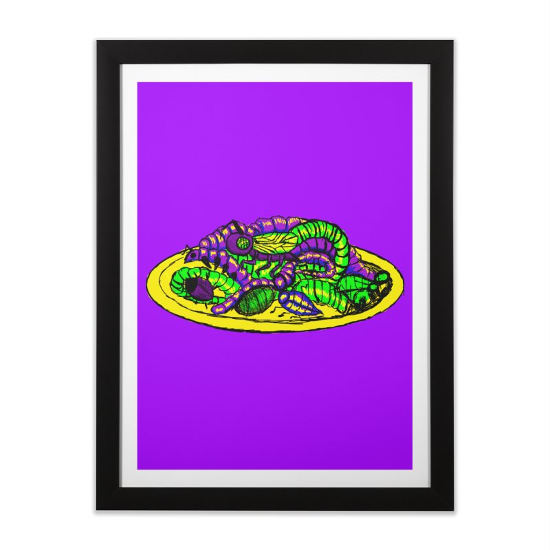 Mimi's Monsters-Plate O' Bugs Home Framed Fine Art Print by Rebecca's Artist Shop