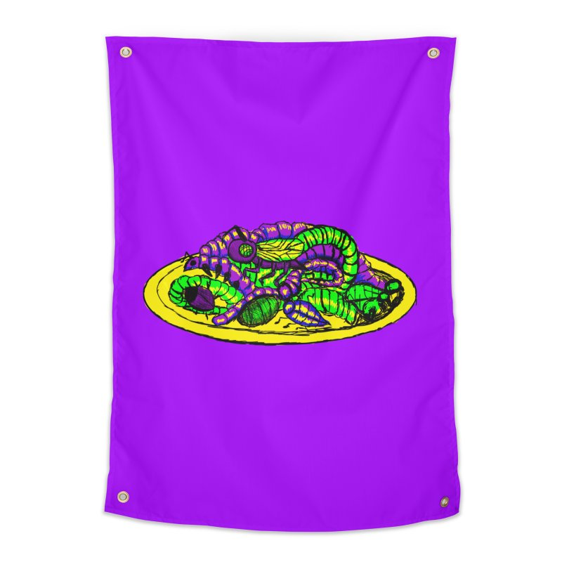 Mimi's Monsters-Plate O' Bugs Home Tapestry by Rebecca's Artist Shop