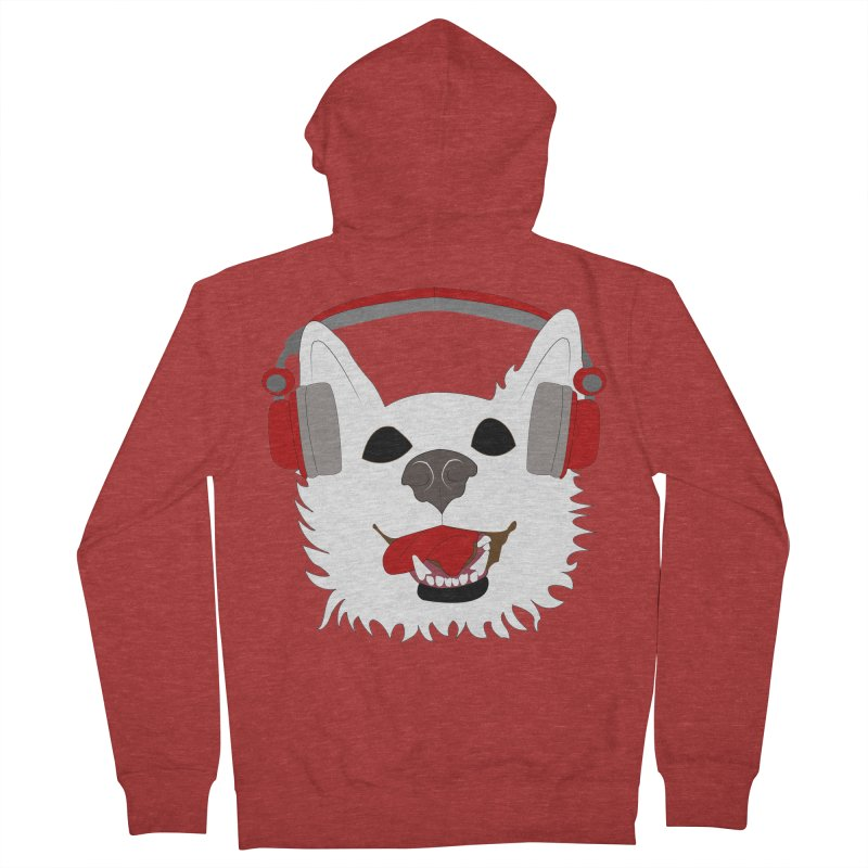Where Wolf Party Logo Men's Zip-Up Hoody by Rebecca's Artist Shop
