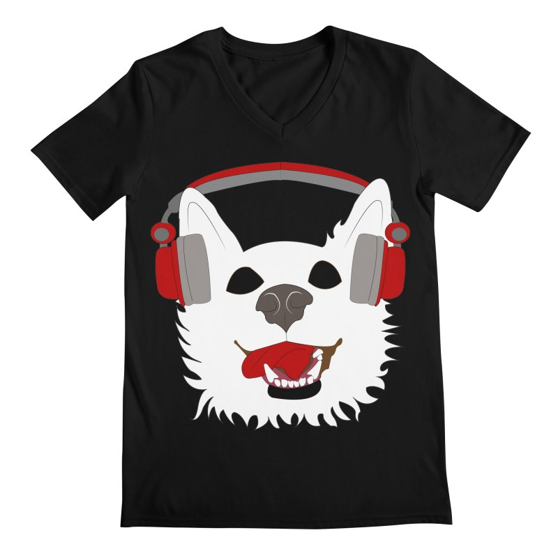 Where Wolf Party Logo Men's V-Neck by Rebecca's Artist Shop