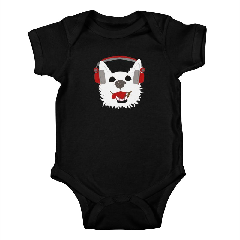 Where Wolf Party Logo Kids Baby Bodysuit by Rebecca's Artist Shop