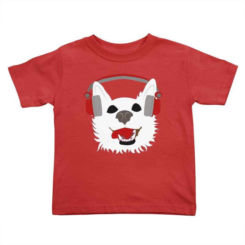 Where Wolf Party Logo Kids Toddler T-Shirt by Rebecca's Artist Shop