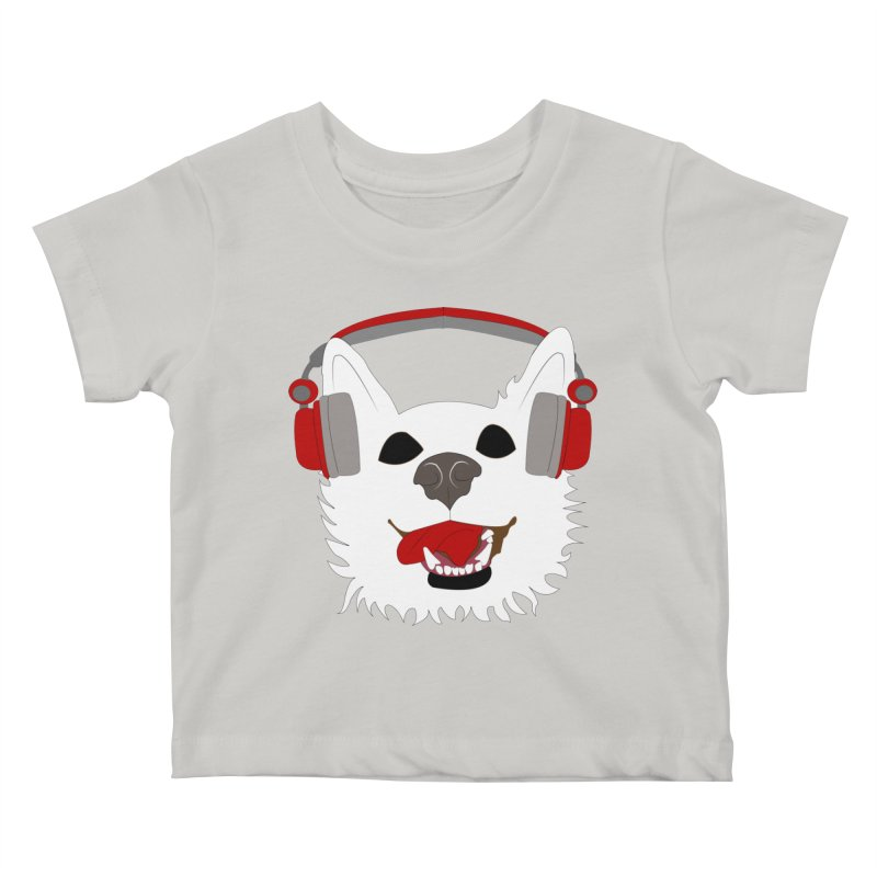 Where Wolf Party Logo Kids Baby T-Shirt by Rebecca's Artist Shop