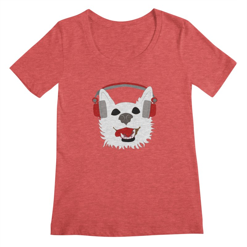 Where Wolf Party Logo Women's Scoopneck by Rebecca's Artist Shop