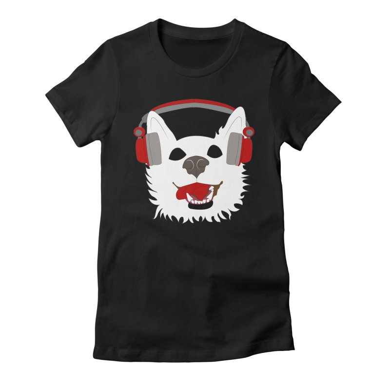 Where Wolf Party Logo Women's Fitted T-Shirt by Rebecca's Artist Shop