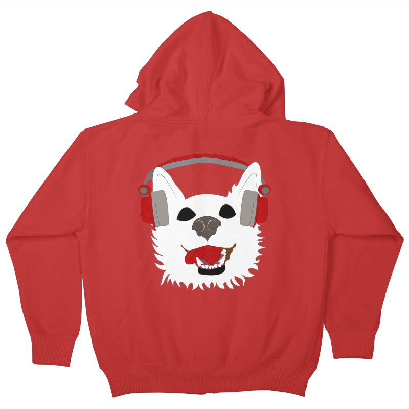 Where Wolf Party Logo Kids Zip-Up Hoody by Rebecca's Artist Shop