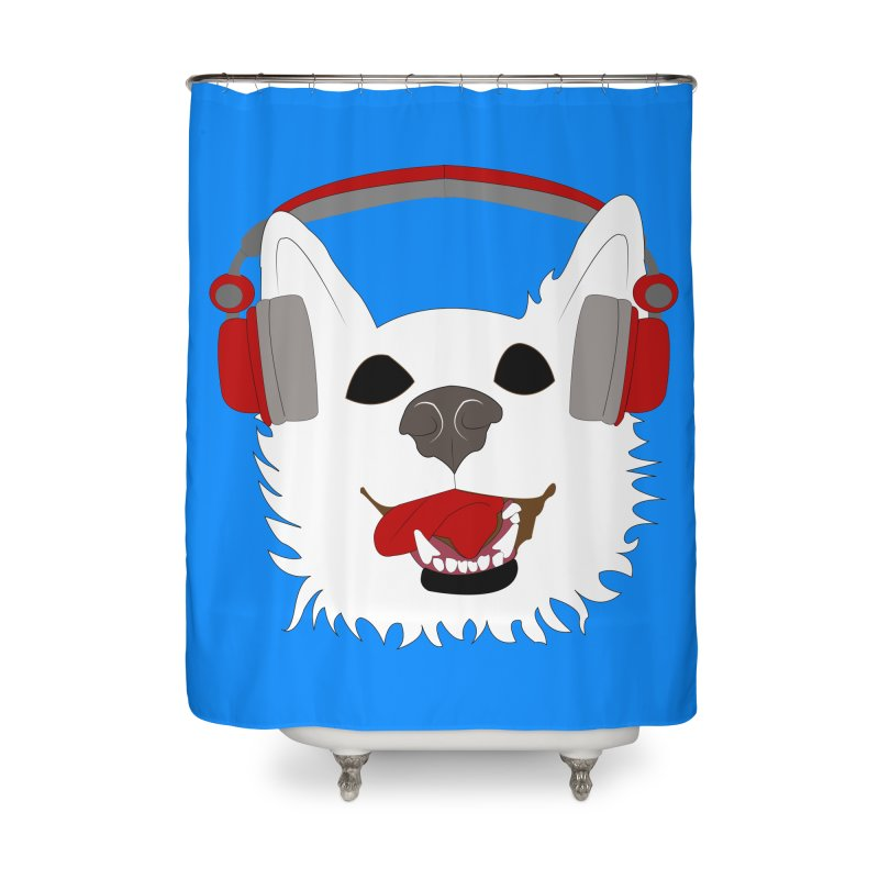 Where Wolf Party Logo Home Shower Curtain by Rebecca's Artist Shop
