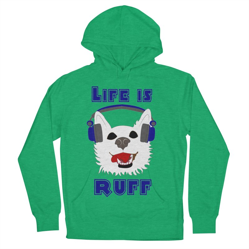 Life Is Ruff - Where Wolf Party Shirt Women's Pullover Hoody by Rebecca's Artist Shop