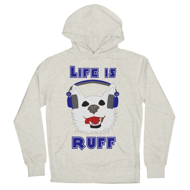 Life Is Ruff - Where Wolf Party Shirt Men's Pullover Hoody by Rebecca's Artist Shop