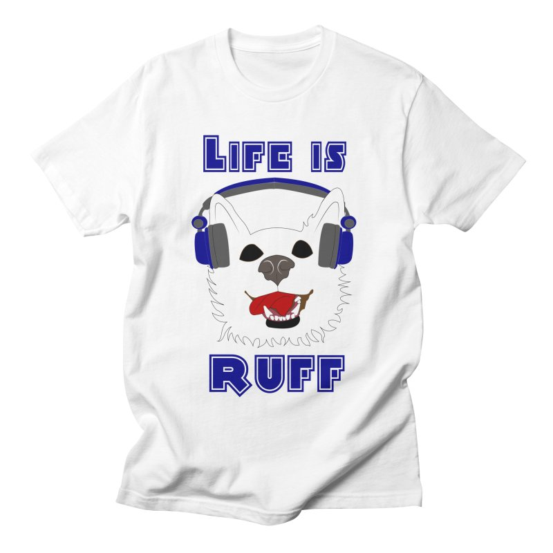 Life Is Ruff - Where Wolf Party Shirt Men's T-shirt by Rebecca's Artist Shop