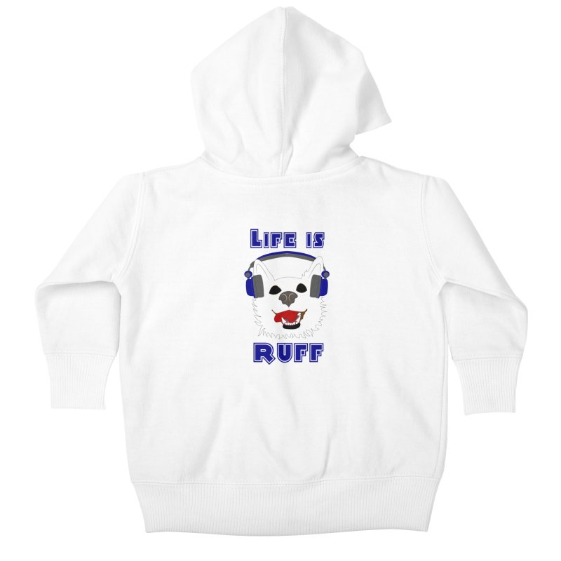 Life Is Ruff - Where Wolf Party Shirt Kids Baby Zip-Up Hoody by Rebecca's Artist Shop
