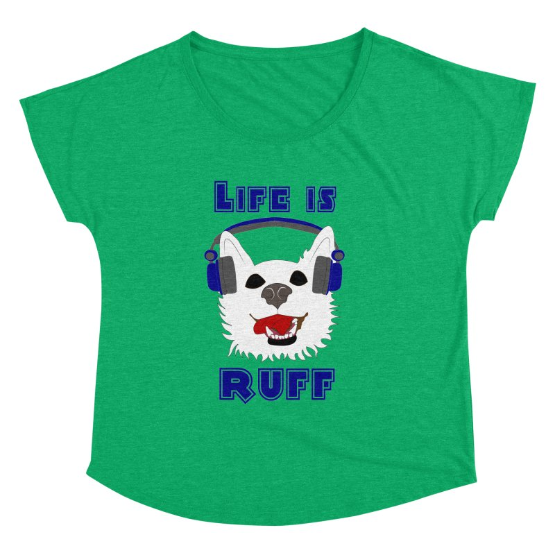 Life Is Ruff - Where Wolf Party Shirt Women's Dolman by Rebecca's Artist Shop